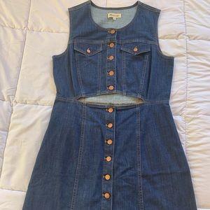 MADEWELL denim dress size 12 never worn